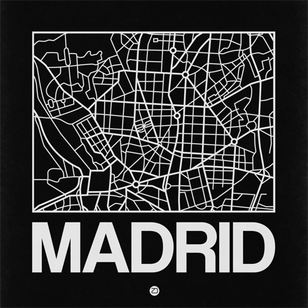 Black Map of Madrid