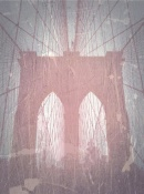 NAXART Studio - Brooklyn Bridge Red