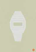 NAXART Studio - White Electronic Watch