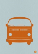NAXART Studio - Orange VW Bus