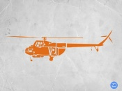 NAXART Studio - Orange Helicopter
