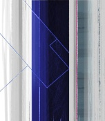 NAXART Studio - Abstract White And Dark Blue