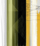 NAXART Studio - Abstract Green And Yellow
