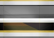 NAXART Studio - Abstract Grey And Yellow Stripes