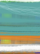 NAXART Studio - Abstract Orange Stripe2