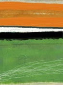 NAXART Studio - Orange And Green Abstract 1