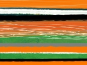 NAXART Studio - Orange And Green Abstract 3