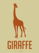 NAXART Studio - Giraffe Orange