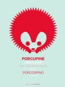 NAXART Studio - Red Porcupine Multilingual Poster