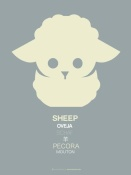NAXART Studio - Yellow Sheep Multilingual Poster