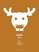 NAXART Studio - White Moose Multilingual Poster