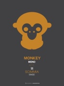NAXART Studio - Orange Monkey Multilingual Poster
