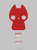 NAXART Studio - Red Kitty Multilingual Poster