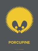 NAXART Studio - Yellow Porcupine Multilingual Poster