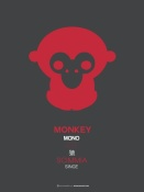 NAXART Studio - Red Monkey Multilingual Poster
