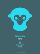 NAXART Studio - Blue Monkey Multilingual Poster