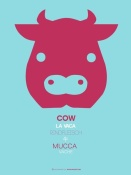 NAXART Studio - Red Cow Multilingual Poster