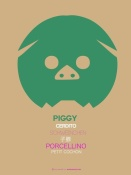 NAXART Studio - Green Piggy Multilingual Poster