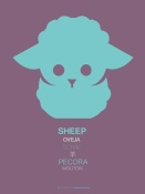 NAXART Studio - Green Sheep Multilingual Poster