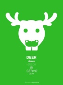 NAXART Studio - Green Deer Multilingual Poster