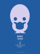 NAXART Studio - Blue Bird Multilingual Poster