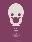 NAXART Studio - Purple Bird Multilingual Poster