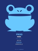 NAXART Studio - Blue Frog Multilingual Poster