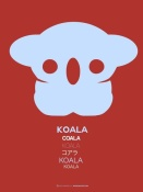 NAXART Studio - Purple Koala Multilingual Poster