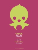 NAXART Studio - Yellow Chick Multilingual Poster