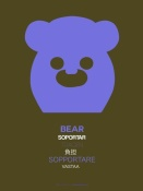 NAXART Studio - Purpple Bear Multilingual Poster