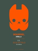 NAXART Studio - Orange Squirrel Multilingual Poster
