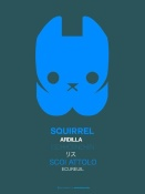 NAXART Studio - Blue Squirrel Multilingual Poster