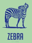 NAXART Studio - Zebra Blue And Green