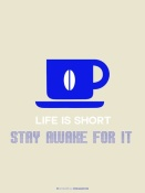 NAXART Studio - Coffee Poster Blue