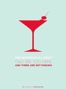 NAXART Studio - Martini Poster Red