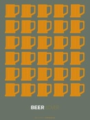 NAXART Studio - Yellow Beer Mugs Poster