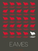 NAXART Studio - Eames Red Rocking Chair Poster