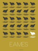 NAXART Studio - Eames Grey Rocking Chair Poster