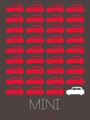 NAXART Studio - Red Mini Cooper Poster