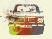 NAXART Studio - BMW 2002 Front Watercolor 2