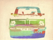 NAXART Studio - BMW 2002 Front Watercolor 3