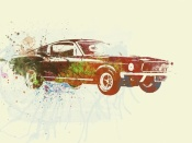 NAXART Studio - Ford Mustang Watercolor