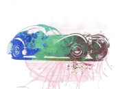 NAXART Studio - Bugatti Atlantic Watercolor 1