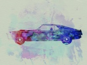 NAXART Studio - Ford Mustang Watercolor 1