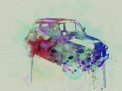 NAXART Studio - Fiat 500 Watercolor