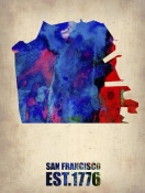 NAXART Studio - San Francisco Watercolor Map