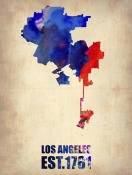 NAXART Studio - Los Angeles Watercolor Map 1