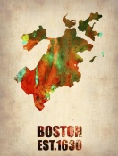 NAXART Studio - Boston Watercolor Map