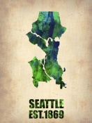 NAXART Studio - Seattle Watercolor Map