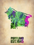 NAXART Studio - Portland Watercolor Map